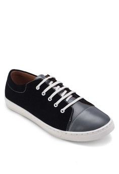 Duo Tone Faux Leather Sneakers