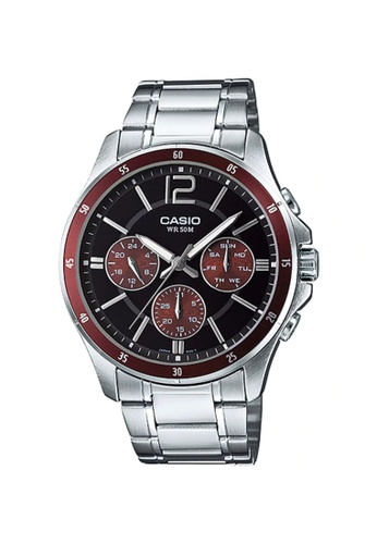 CASIO silver Casio Men's Analog MTP-1374D-5AVDF Stainless Steel Band Casual Watch 0DF47AC3396BF2GS_1