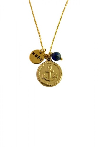 Trinkets for Keeps gold Anchor Stainless Steel Necklace 8BC19AC539B5E5GS_1