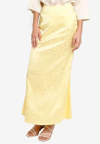 Lubna yellow Flare skirt F3E7EAACF5B2BCGS_1