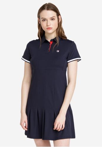 FILA navy Embroidery F Logo Dress 345C7AA4379C22GS_1