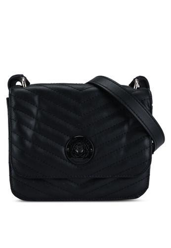 Guess black Noelle Mini Flap Crossbody Bag 3E821ACBF46018GS_1