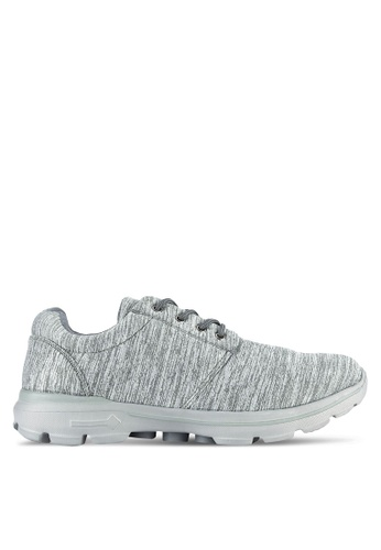 UniqTee grey Lightweight Elastic Knit Sport Sneakers UN097SH0RS4MMY_1