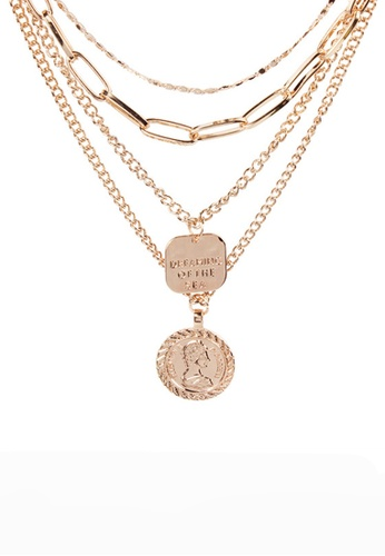 Sunnydaysweety gold 4 in 1 Multi-Layers Necklace CA030225 BEB4FACB37056AGS_1