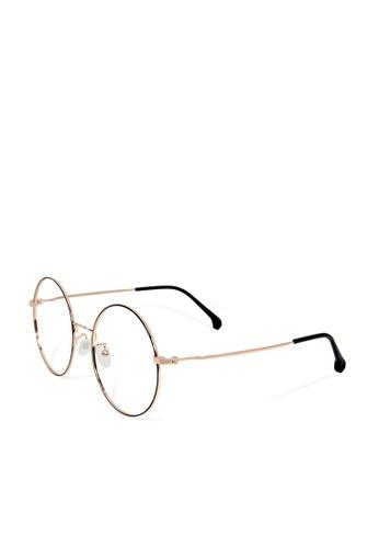 ASLLY gold Big Ben's Whisper│Anti-blue light glasses with Gold detailed frame 52FD4GLA2041CFGS_1