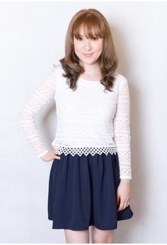 Lace Top With Attached Skirt