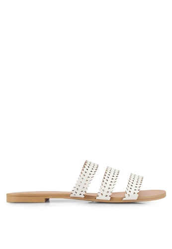 ZALORA white Laser Cut Sandals 178D2SH5F97E09GS_1