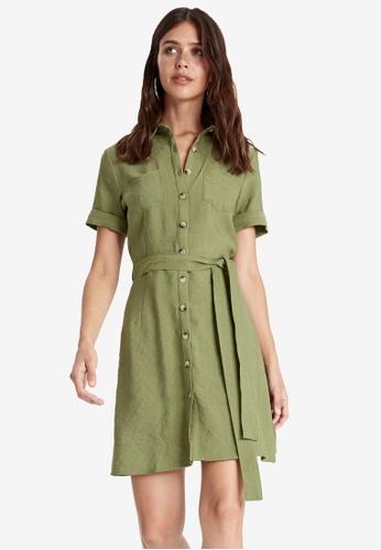 LC Waikiki green Waistband Shirt Dress 32387AA49A34F3GS_1