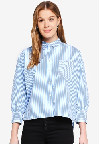 J.Crew blue Button Up Poplin Shirt 3A9A9AA9B50037GS_1