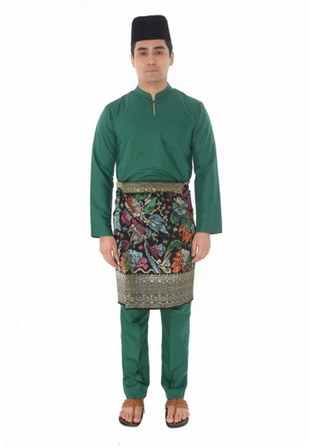 Amar Amran green Baju Melayu Gumbae 0B707AAFB66A20GS_1