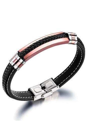Trendyshop black Men's Leather Bracelet F0501ACDE06E7FGS_1