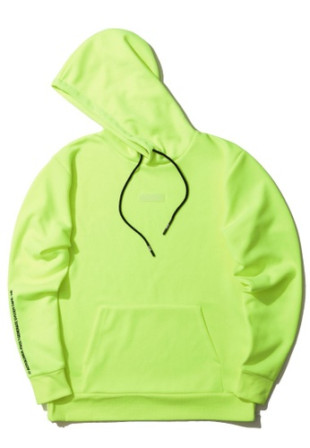 izzue yellow Graphic print patch hoodie 833BEAAFE58BFDGS_1