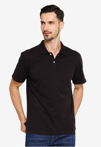 Gap navy Short Sleeves Jersey Polo Shirt B084CAA39290F9GS_1