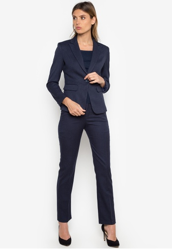 Well Suited blue Single Button Pant Suit F5101AA66238C2GS_1
