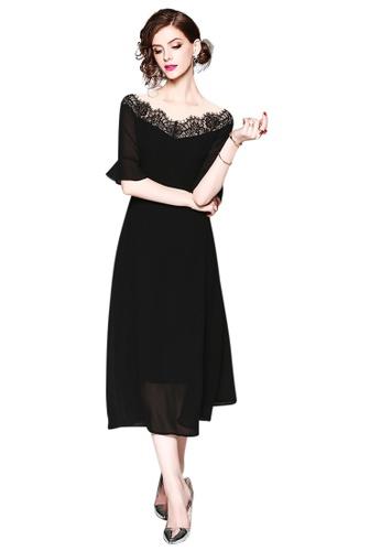 61c9343d4521 Sunnydaysweety black New Black Off Shoulder One Piece Dress CA071862  202DFAA1B71718GS 1