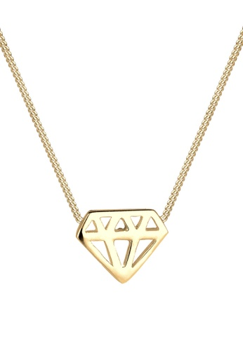 ELLI GERMANY gold Elli Germany 925 Sterling Silver Gold-Plated Diamonds Shape Necklace D7C2EAC1C6C459GS_1