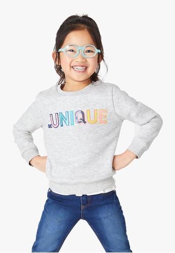 MARKS & SPENCER grey Be Unique Slogan Sweatshirt 6E498KAB117802GS_1