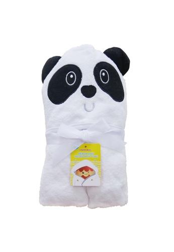 Cheekaaboo white Baby Unisex Bamboo Hooded Panda Towel 0693FKCAAC8A60GS_1