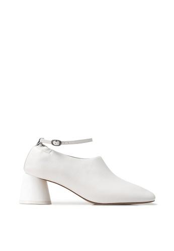 RABEANCO 白色 RABEANCO KANA 中跟短靴 - 平滑白色 3CDA6SHE495FE1GS_1
