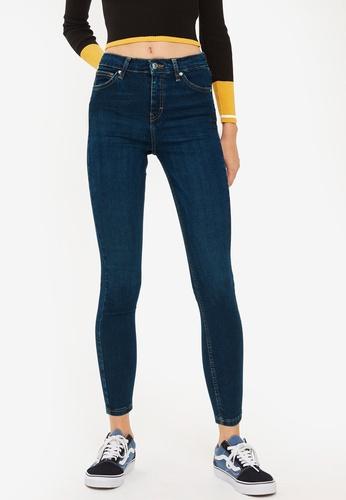TOPSHOP blue Petite Indigo Jamie Jeans 8148AAAA7B893BGS_1