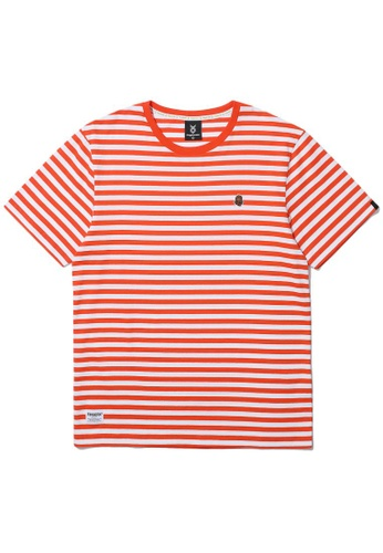 Fingercroxx orange Stripe Bigfoot tee 0B829AAF047BF5GS_1