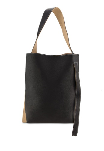Sunnydaysweety black and beige 2018 New Simple Style Tote Bag A10114BK 01176AC5AA5078GS_1