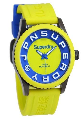 Superdry Jam Tangan Pria Kuning Rubber Strap SYG191N