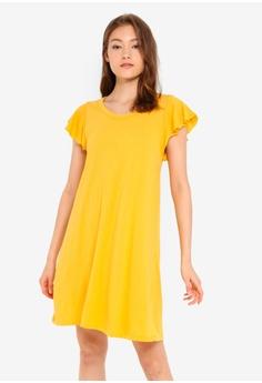 282df604f69bf GAP yellow Short Sleeve Flutter Swing Dress 01ECCAA0846E2EGS_1