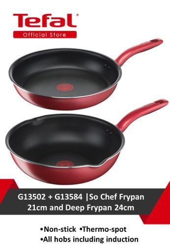 TEFAL Tefal So Chef Frypan 21cm G13502 and Tefal So Chef Deep Frypan 24cm G13584 59F8FHL1392DF1GS_1
