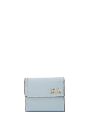 Braun Buffel blue Thonet 3 Fold Small Wallet with External Coin 0FC17AC337BA2DGS_1