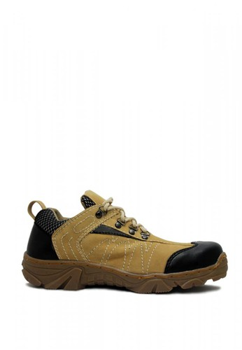 Cut Engineer grey Cut Engineer Taktical Safety Low Boots Iron Leather Brown A58A4SH4359375GS_1