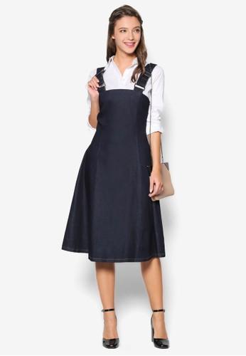 彈性丹寧吊帶連esprit 品牌身裙, 服飾, 洋裝