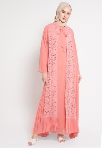 Kamilaa by Itang Yunasz pink Lace Gamis KA273AA71FSEID_1