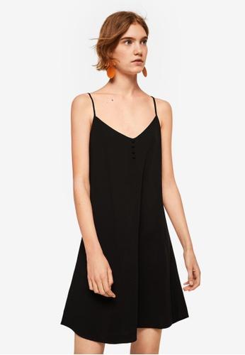 Mango black Strap Flowy Dress 07E9AAA616DFB0GS_1