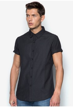 Illusion Print Short Sleeve Shirt