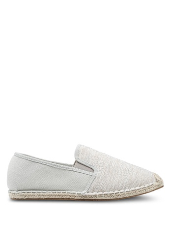 ZALORA grey Mixed Materials Espadrilles BBE7CSH532467AGS_1