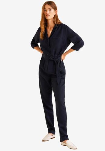Mango blue Long Chest-Pocket Jumpsuit 1C5C1AA13042EAGS_1