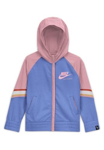 Nike blue Girls' Nike Sportswear Heritage Full-Zip Hoodie 5F81CKA45C6537GS_1