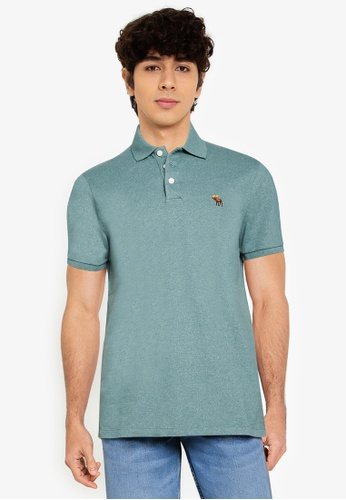 ABERCROMBIE & FITCH green Core Polo Shirt 57197AA71C64BEGS_1