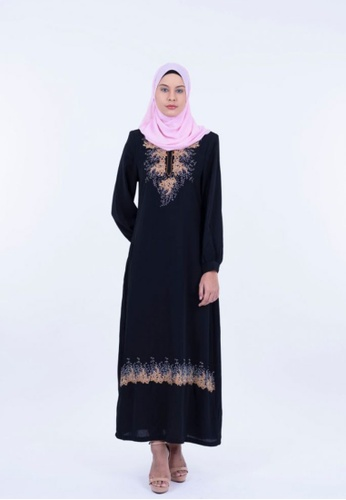 Ladies Jeans black Jubah With Crystal Embroidery DC97DAA57D0A87GS_1