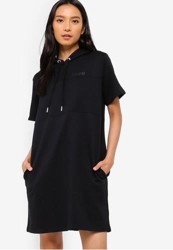 fe296d9ada48 Calvin Klein black Color Block Hood Dress - Calvin Klein Jeans  5A53AAA4B992E6GS 1
