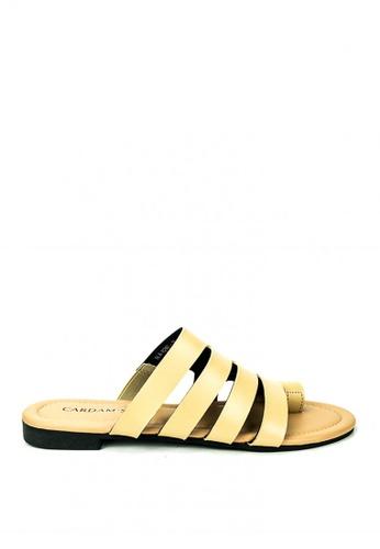 Cardam's Lifestyle beige Lilith Slides Sandals 9A04ESH4E4C846GS_1