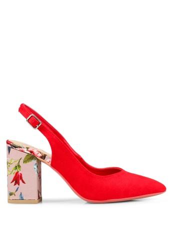 OVS 紅色 麂皮高跟鞋 F8453SHEE5A52BGS_1
