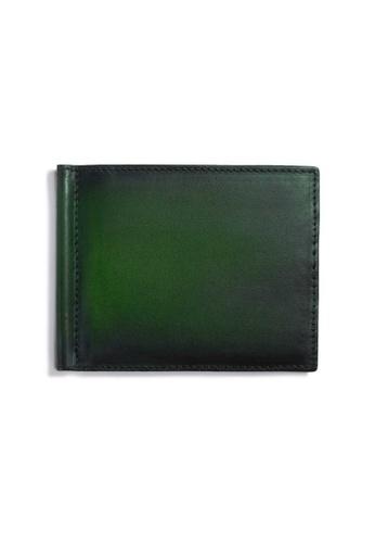 Crudo Leather Craft green Raffinato Money Clip Wallet - Vintage Green 2F4E8AC949F7ADGS_1