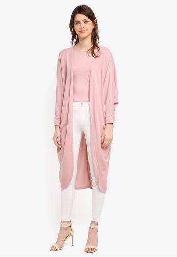 Zalia pink Knit Batwing Cardigan C7BBAAAFED3ECBGS_1