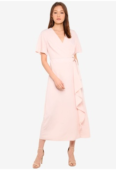 a11f75ab4c5c Dorothy Perkins D Ring Wrap Maxi Dress RM 289.00. Available in several sizes