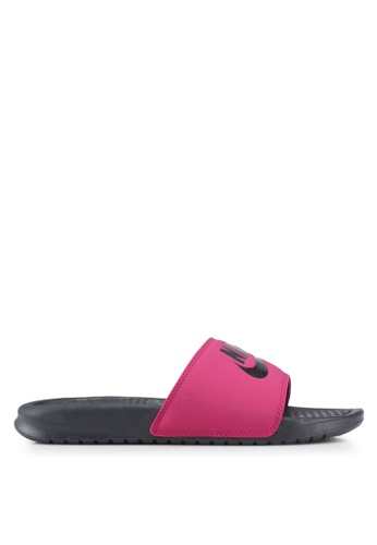 "Nike pink Women's Nike Benassi ""Just Do It."" Sandals 5D953SH34FF817GS_1"