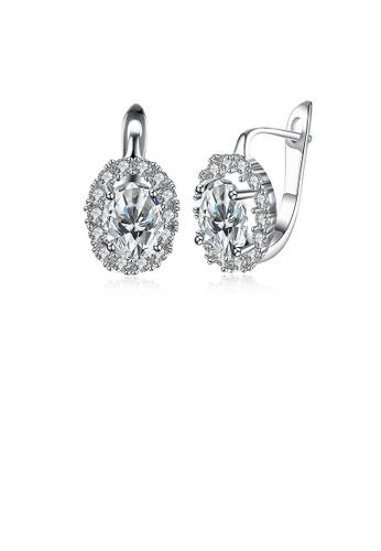 Glamorousky white Dazzling Oval Cubic Zircon Earrings 34529ACE5FECC1GS_1
