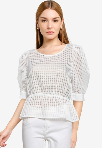 ONLY white Ashlee Life Blouse 64601AA92B213BGS_1
