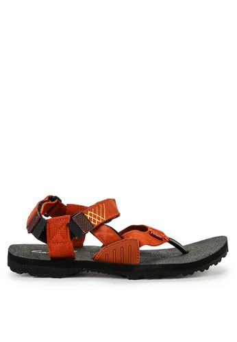 CARVIL black and orange Carvil Sandal Sponge Gunung Man Aeroplane Black Terracotta D1693SHFBB9404GS_1